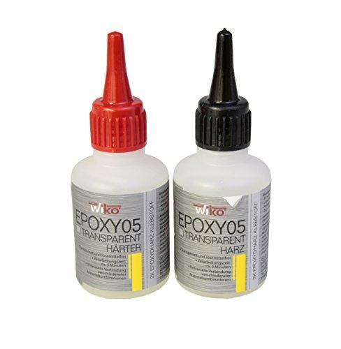 Wiko oder DURAX 2-Komponenten Epoxydharz Klebstoff 5 min Harz und Härter Transparent - Set 100 g