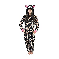 BODY CANDY Micro Fleece Women's Onesie Pajamas With Creature Hoods (See More Colors and Sizes)