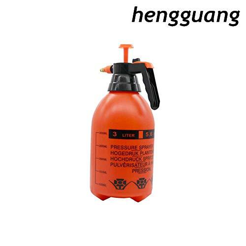 hengguang 2L / 3L Verstelbaar Mondstuk Handdruktrekker Spuitfleskop Handmatige Luchtcompressiepomp Spuitfles (Oranje) 2L/ B