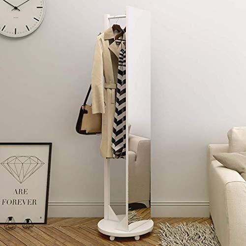 JFFFFWI Kleiderbügel, Hutständer, Kleiderbügel Creative Garderobe, bodenstehende rotierende Spiegelgarderobe |Veranda Wohnzimmer Schlafzimmer |Kleidung, Tasche, Schal, Schirmständer