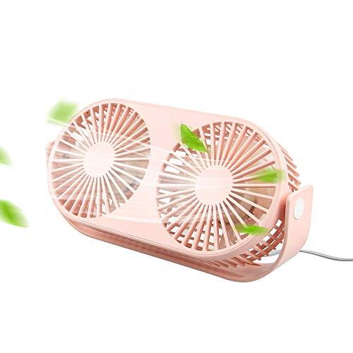Hoteon F-Best 4.6 Inch Mini USB Desk Fan, 3 Speeds, Double...