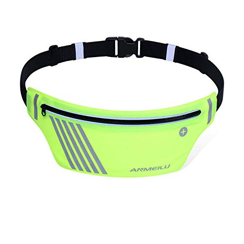 Jqqy Verde Fluorescente Unisexo Riñonera De Moda Bolsa De Cintura