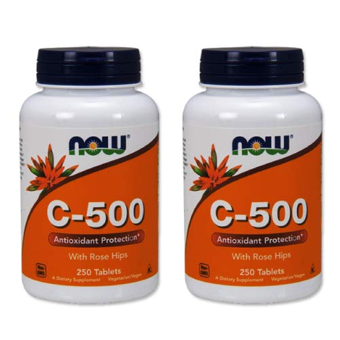 経度掃除降臨2個セット ビタミンC-500(ローズヒップ配合) 250粒 [海外直送品]