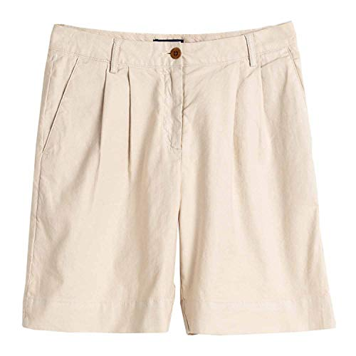 GANT Hw Pleated City Shorts Womens Shorts Medium Putty