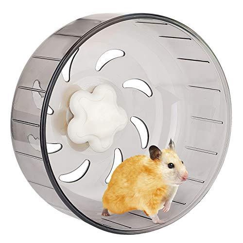 iFCOW Rueda de correr para hámster, de plástico acrílico de 12,5 cm, súper silenciosa, rueda de ejercicio para mascotas pequeñas, hámster