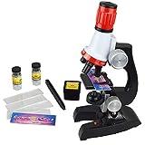 Ailyoo Kids 1200X LED Kit de microscopio Educativo para Principiantes Laboratorio de Ciencia/Juego de microscopio biológico Kit de microscopio Educativo para niños Estudiante