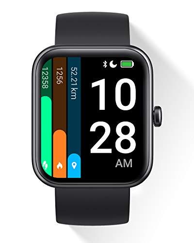 DOOGEE CS2 Pro Smartwatch para Hombres y Mujeres, Alexa Incorporada, Oxígeno En Sangre, Reloj Inteligente con Monitorización De Frecuencia Cardíaca, Reloj Deportivo Impermeable Android iOS, Negro