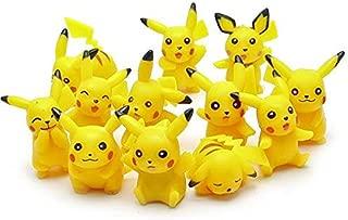 Personality Pokemon Pikachu Action figure toy 12 Pcs