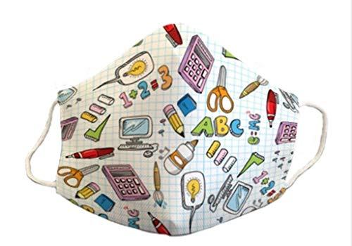 Mascarilla homologada infantil 6-9 años niño niña reutilizable 3capas de protección lavable estampada colegio