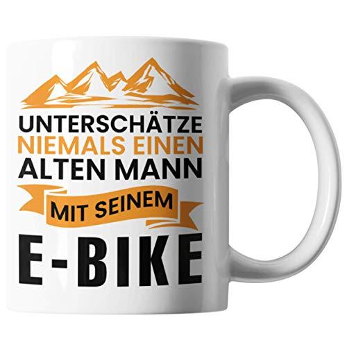 Bürotasse E-Bike Spruch Für Männer   Kaffeetasse Elektro Fahrrad Spruch Geschenkidee   Lustige Tasse Den Opa Onkel oder Vater