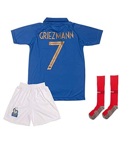 ATB Frankreich 2019/2020#7 Griezmann Heim Kinder Fußball Trikot und Shorts mit Socken Kinder und Jugend Größe