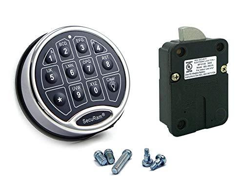 SecuRam Safelogic Backlit Lock & Keypad Kit – Swingbolt – Black Chrome Finish
