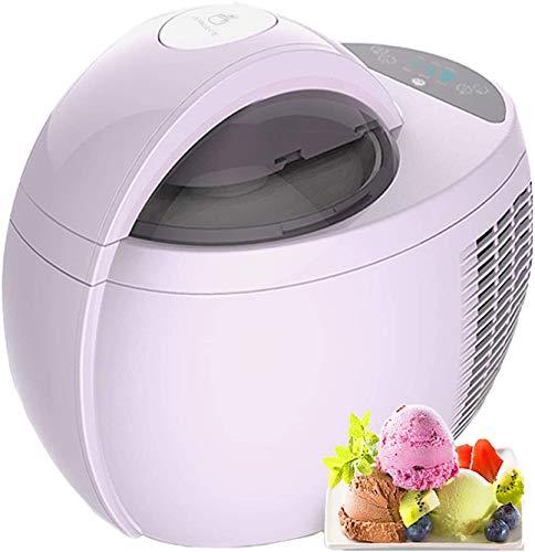 RENXR Máquina De Helado Suave Heladera Digital 1L Máquina De Yogur Helado con Temporizador Inteligente Y Funciones De Enfriamiento para Casa