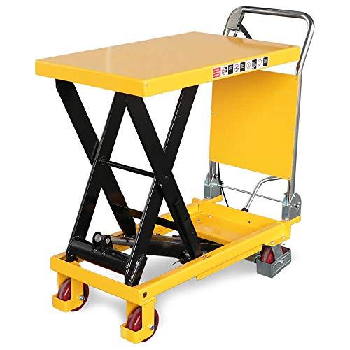 Hubtischwagen fahrbarer Hubtisch 300 kg, 900 mm Hubhöhe, 855 x 500 mm Plattform