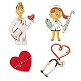 KESYOO 1 Juego / 4 Piezas Broches Creativos Enfermera Médico en Forma de Broches de Diseño Ropa de Moda Pin Accesorios de Pantalón Adorable Ramillete Simple Pecho