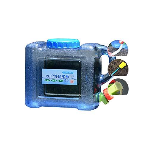 YXYXX PC portátil Bidón, Tanque De Agua Con un grifo, Se utiliza para acampar, hacer senderismo, pescar, escalar, viajar al aire libre/azul / 8L