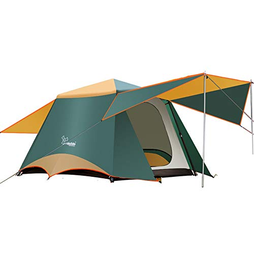 JOMSK Camping Tent Double Laye Portable with Carry Bag Green Portable Waterproof Tent Portable Tent (Color : Green, Size : One Size)