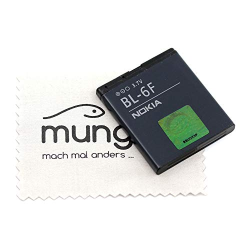 Batteria per Nokia originale BL-6F per Nokia N78, N79, N95 8 GB con panno per la pulizia dello schermo mungoo
