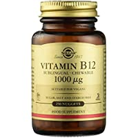 Solgar Comprimidos Masticables Sublinguales Vitamina B 12 1.000 mcg, Equilibrio psicológico, Reduce el Cansancio, Sabor Cereza Natural, Apto para Veganos, 250 Tabletas
