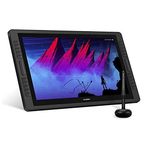 HUION KAMVAS Pro 22 Monitor Grafico 8192 Sensibile alla Pressione con Penna Senza Batteria e 10 Pulsanti Personalizzabili 1 Touch Bar4 GT-221 Pro V2 Tavoletta Grafica con Monitor