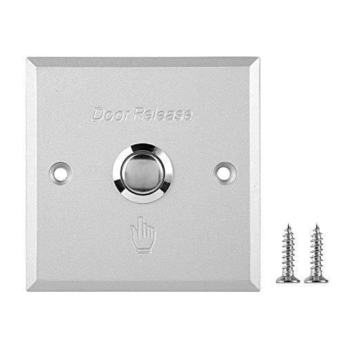 Broco Open deur, van aluminiumlegering, uitgangsknop, schakelaar voor thuis, toegangscontrole, 12 V (A80 grote switch)