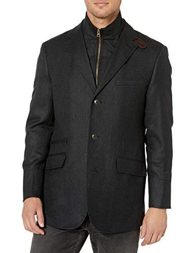Kroon Men's W33071 Ritchie Aim Stretch Sportcoat Blazer, Black, 40 Regular