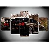 Gxucoa 5 Piezas Cuadros Lienzo Coche JDM Moderno Impresiones En HD Fotos Decoración para El Hogar 5 Piezas Artística Cuadros Sin Marco