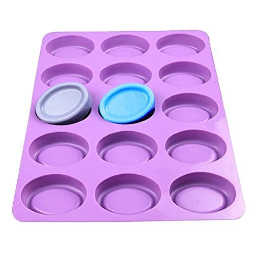 15-Loch-Zylinder-Silikonformen zur Herstellung von Schokoladen-Bonbon-Seifen-Muffin-Cupcake-Duschvorhängen schimmelfestes waschbares Osterei-Formen