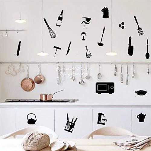 adesivo murale 3d adesivo murale bambini Ustensiles de cuisine Cuision Bakery Cooking Mug