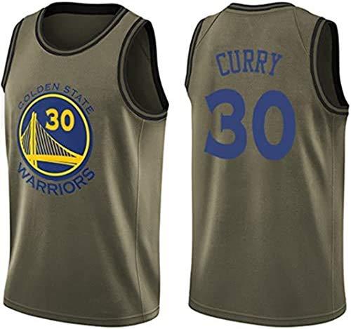 Shelfin Maillots de baloncesto de la NBA Golden State Warriors No.30 Stephen Curry de malla para hombre Swingman Edition unisex sin mangas (color: C, tamaño: XXL)