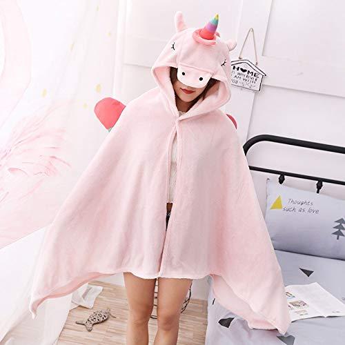 SMNHSRXH 1 stuk schattig eenhoorn partij kostuum volwassen dier kostuum halloween kostuum voor man vrouw kind dier deken warme mantel fleece