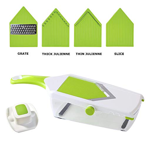 KAY PRIDE Best Adjustable Mandoline Slicer - professionally Slice, Julienne, Grate & Shred your favorite Veggies! Bonus gift: cut resistant gloves