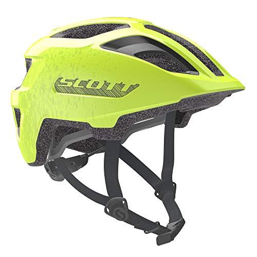Scott 275232 - Casco de Bicicleta Unisex para niño, Color Amarillo Fluorescente, Talla 1