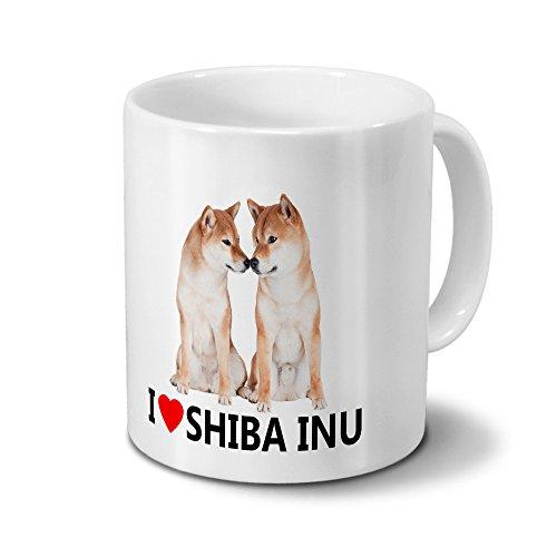 printplanet Hundetasse Shiba Inu - Tasse mit Hundebild Shiba Inu - Becher Weiß