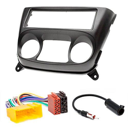 CARAV 11-024-18-10 Kit d'installation d'autoradio 1-DIN pour Nissan Almera (N16) 2000-2006 + ISO et câble adaptateur d'antenne