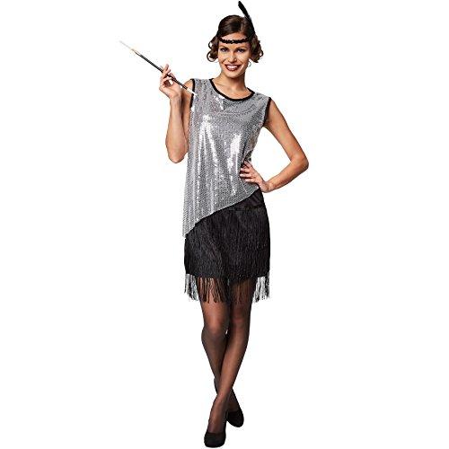 TecTake dressforfun Disfraz para Mujer de Carolina del Sur   Vestido Corto   Incl. Cinta del Pelo con Plumas (S   no. 301600)