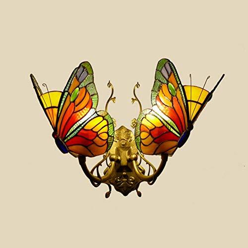 Espejo de estilo europeo con diseño de mariposas y cabecero de cristal para balcón