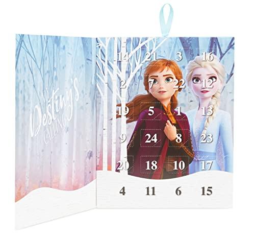 Disney Frozen 2 Calendario dell'Avvento con Anna ed Elsa, Calendario dell'Avvento Gioielli Bambina, Include 24 Sorprese Collana Bracciale + 22 Ciondoli, Regali Originali per Ragazze