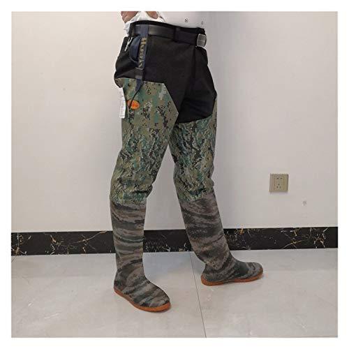 Lucky DuDu Bosque Digital Camuflaje Color Muslo Altura Pesca Waders Antideslizante Impermeable (Color : Camo Shoes Size 39)