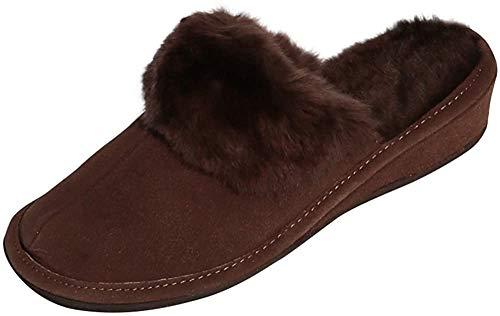 Hollert Leather Lammfell Hausschuhe MAROKKO Premium Damen Fellschuhe aus 100% Merino Schaffell Größe EUR 38, Farbe Braun