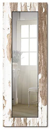 Artland Ganzkörperspiegel Holzrahmen zum Aufhängen Wandspiegel 50x140 cm Design Spiegel Shabby Chic Landhaus Schriftzug Kunst Used Look T9ID