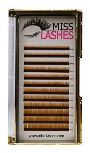 Miss Lashes Extensions pour sourcils Brun clair 4-7 mm 35,9 g