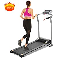 Mauccau Folding Electric Treadmill with LCD Display for Home