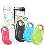 HUAYUAN Mascotas Rastreador GPS Inteligente Etiqueta de Alarma Anti-perdida Rastreador inalámbrico Bluetooth Bolsa de Billetera para niños Localizador de Llaves Anti perdida 5 PCS-5 Piezas_China