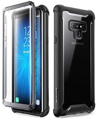 i-Blason Hülle für Samsung Galaxy Note 9 Handyhülle 360 Grad Hülle Bumper Schutzhülle Transparent Cover [Ares] mit integriertem Bildschirmschutz, Schwarz
