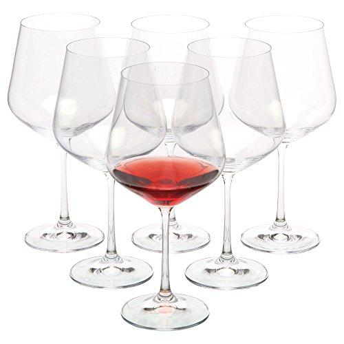 VANILLA SEASON, Bohemia Cristal - Juego de 6 copas de vino tinto,...