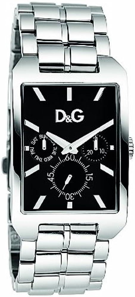 D&g colorado dolce & gabbana, orologio da uomo, in acciaio inossidabile lucido DW0636