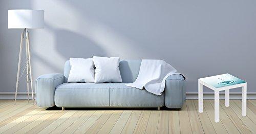 Mesa Ikea Lack Personalizada Gota de agua Vinilo auto adhesivo | Medidas 0,55 m x 0,55 m x 0,77 m | Vinilo personalizado | Mesa | Pegatina Decorativa Diseño Elegante