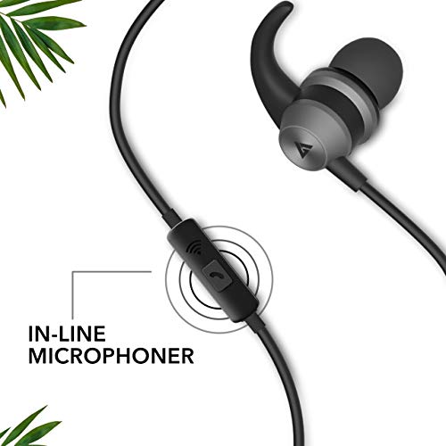 Boult Audio BassBuds X1 in-Ear Wired Earphones with 10mm Extra Bass Driver and HD Sound with mic(Black)