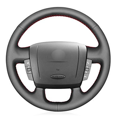 Cubierta Volante Cubierta del volante del automóvil para FIAT 2006-2019 RAM PROMASTER (Carga) (Cabina Chasis) (Ventana) 2017-2020 (Color Name : Gray Thread)